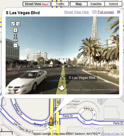 Vegas Google Maps Street View