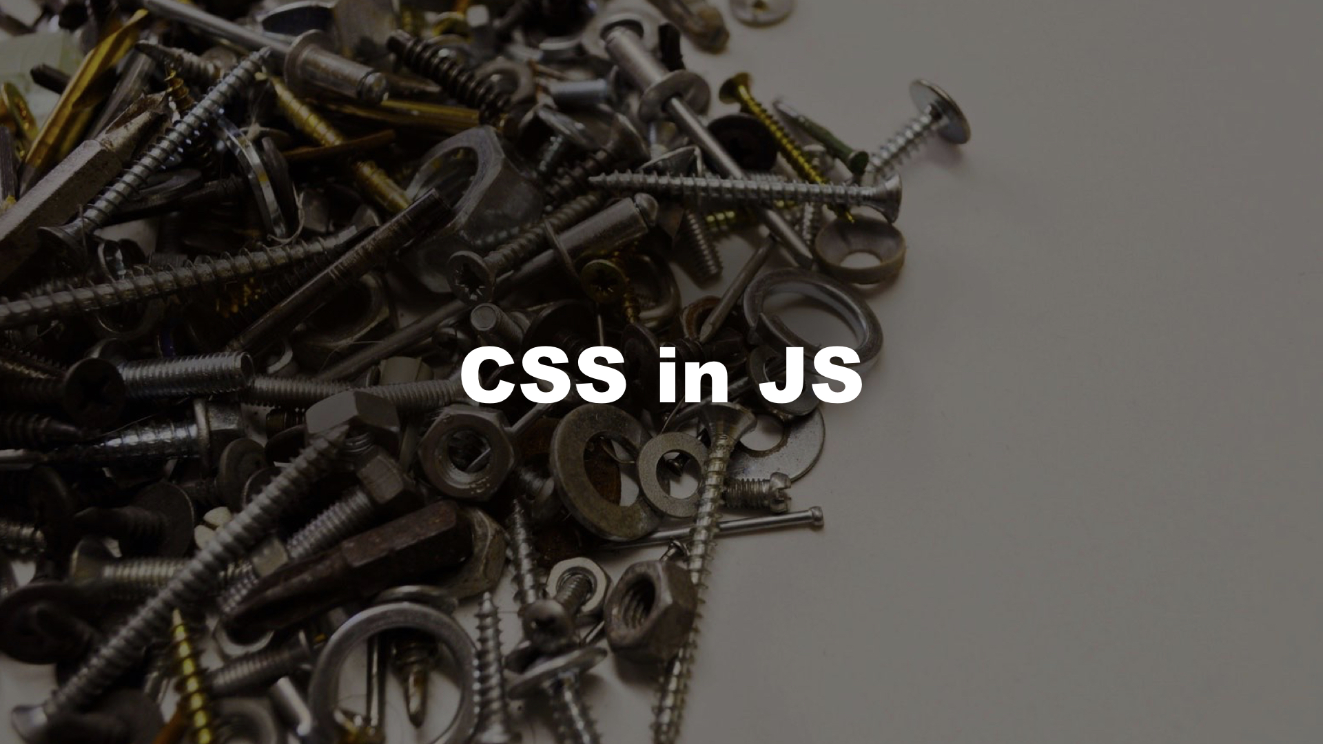CSS is JS may feel like this at first!